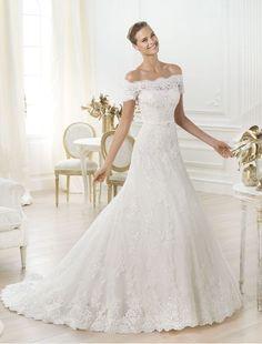 lace-off-shoulder-neckline-wedding-dress-a-line-skirt-