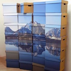DIY Storage Idea-for those times when you can't hide the boxes!