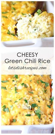 Cheesy Green Chili Rice