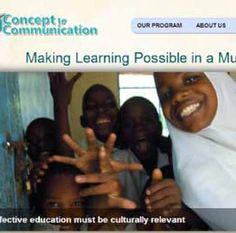 Concept to Communication Non-profit Website work