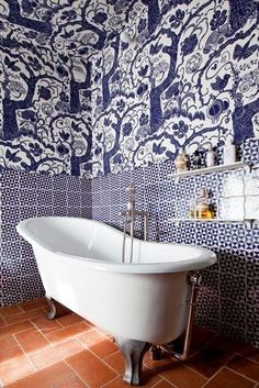 Every single image in this @apttherapy roundup of beautiful bathroom tile is absolutely drool-worthy.