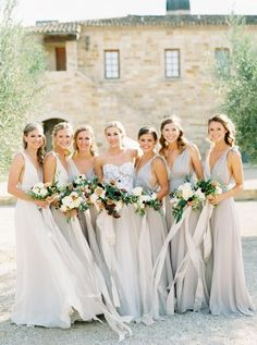 Winery wedding bridesmaid dresses at Sunstone Vineyards & Winery Estate in Santa Ynez, California. Brought to life by Photographer- Erich McVey Photography, Florist- Bows And Arrows Flowers and Planner- Ginny Au. Brides And Bridesmaids, Bridesmaid Dresses, Wedding Dresses, Wedding Flowers, Prom Dresses, Bridesmaid Inspiration, Bridal Show, Wedding Photography, Wedding Blog