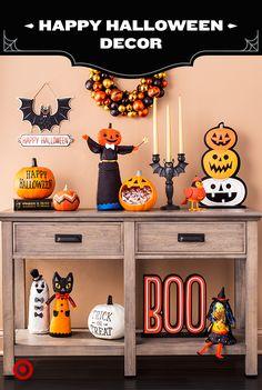 What's orange & black & fun all over? Our imaginative Halloween decor line, Stories In The Dark.