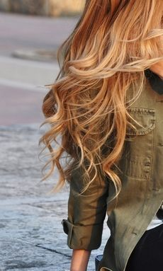 .beautiful hair and color... I wish I could pull off lighter without killing my hair