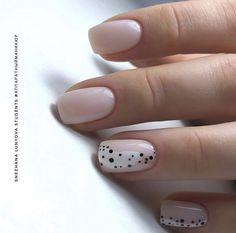 Beautiful Stylish Square Short Nails Design - Page 15 of 15 - Vida Joven Nude Nails, Nail Manicure, Diy Nails, Shellac Manicure Designs, Manicure For Short Nails, Coffin Nails, Pedicure, Nagellack Design, Nailart