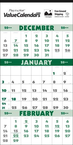 Commercial Advertising Calendar Business Calendar Promotional