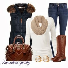 Get Inspired by Fashion: Casual Outfits | Blue Winter Vest