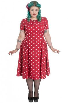 Hell Bunny 40s Madden Dress Red Plus Size : Hell Bunny Jurken - Retro en Vintage kleding online | Looks Like Vintage