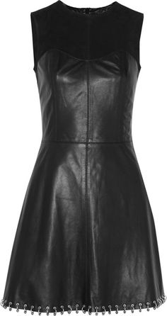 MCQ BY ALEXANDER MCQUEEN Ringembellished Leather and Suede Dress  LOVE the bottom