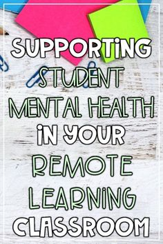 How to support social emotional learning and student mental health during remote learning.  I'm sharing social emotional distance learning activities that will help you connect, communicate, and get creative with your students. Read this blog post to learn how to build relationships and support the SEL and mental health needs of your students in your remote learning classroom! #socialemotionallearning #sel #distancelearning High School Counseling, High School Activities, School Social Work, School Counselor, Learning Activities, Teaching Ideas, Teaching Strategies, Mental Health Activities, Social Emotional Activities