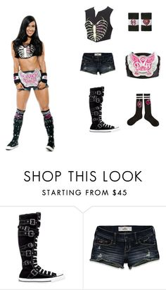 """""""Aj lee"""" by nancy-nd ❤ liked on Polyvore featuring Converse and Hollister Co."""