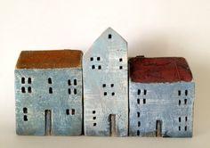 set of 3 ceramic houses by VGCLAYART