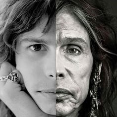 Steven Tyler: Then & Now. In his older pic, you can really see his part-Cherokee heritage. Native American elders have a beautiful wise look.