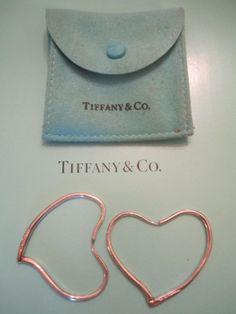 Earrings Vintage Retro 70s TIFFANY & CO Elsa Peretti Open Heart Hoops | GoldenDaysGoneBy - Jewelry on ArtFire
