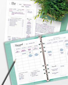 Homework Planner, Student Planner, Teacher Planner, Louis Vuitton Planner, Planners, Diy Organisation, Planner Inserts, Organiser, Back To School