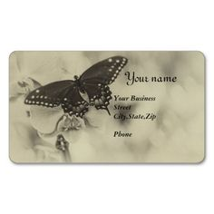 Antiqued Butterfly Business Card
