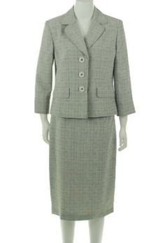 Evan Picone Water Color Skirt Suit $129.93