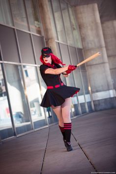 Bombshell Batwoman       Cosplayed by GillyKins, photographed by Eleventh Photograph   Read More: Best Cosplay Ever (This Week) - 01.05.15 | http://comicsalliance.com/best-cosplay-ever-this-week-hawkgirl-maleficent-deathstroke-the-amazing-bag-man-and-more/?trackback=tsmclip