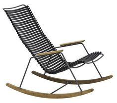 Rocking chair Click / Plastique & bambou - Houe