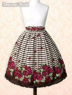 Rose Stained Glass Skirt  ローズステンドグラススカート  All colorways but Bordeaux Colorway - Short Version preferred.