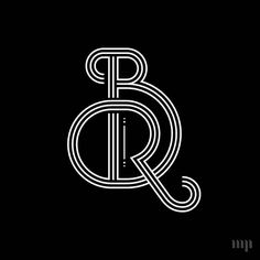 Awesome 'BR' monogram by @monogramproject | #typegang - typegang.com | typegang.com #typegang #typography