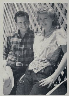 A young Lucy Ball & Desi Arnez at Desilu Ranch 1942