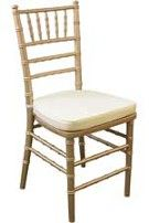 Gold Chiavari Padded Chair.  Also Available in other colors.