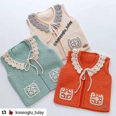 Baby Sweater Knitting Pattern, Knit Baby Sweaters, Baby Knitting Patterns, Crochet Patterns, Baby Cardigan, Knitting For Kids, Baby Dress, Lana, Crochet Bikini