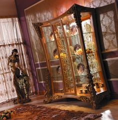 curio cabinet Luxury Home Furniture, Wood Carving, Luxury Homes, Fair Grounds, Painting, Cabinet, Unique Furniture, Luxurious Homes, Clothes Stand