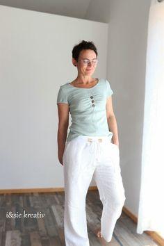 Raffaelle von Schnittmusterlounge Shirts, Pants, Fashion, Sew Mama Sew, Chic, Knitting And Crocheting, Tutorials, Creative, Patterns