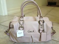 Coach Ashley Style # F15445lavender Leather Coach Lavender/pink Bag - Satchel $201