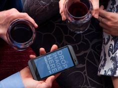 New Mockup! Couple Drinking Wine on a Date with HTC. Try it here: https://placeit.net/#!/stages/couple-on-a-date