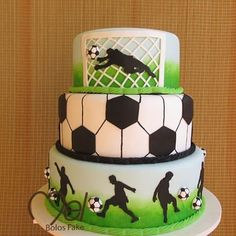 Super Birthday Cake Boys Football Party Ideas Ideas You are in the right place about So Soccer Birthday Cakes, Soccer Cakes, Birthday Boys, Soccer Party, Football Cakes For Boys, Soccer Ball Cake, Birthday Cupcakes, Fondant Cakes, Cupcake Cakes
