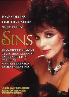 "Joan Collins in ""Sins"" mini-series (1986)."