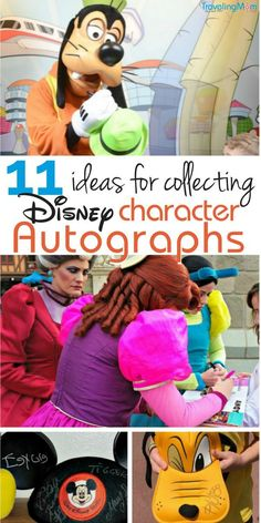 Disney autographs can make a great memory keeper and souvenir for kids. Here are 11 unique ways to collect character autographs at Disney! #disney #disneyworld #disneyland #TMOMDisney