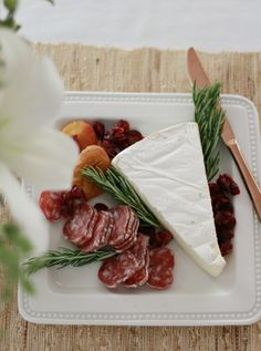 Making the serving plates cute. Holiday Entertaining Tips - A Thoughtful Place