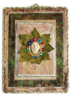 Woodland fine art wall hanging Hope mixed media by ThisArtOfMineUS, $39.00