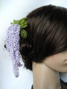 Wisteria Hair Stick French Beaded Flower Kanzashi by eillie00, $48.00