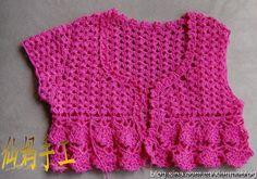جاكيت كروشية اعجبني جدا بحثت عن طريقته وكانت التنيجة رائعة  اتمنى ان يعجبكي وتفرحي البنوتة من شغلك Crochet For Kids, Crochet Top, Bolero Jacket, Rubrics, Album, Jackets, Tops, Women, Archive