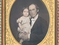 CWFP: Father and Daughter Daguerreotype for Sale: Daguerreotype Photograph - id171a - 1855