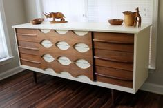 Painted mid century modern dresser