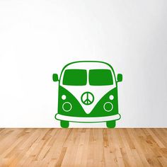 1960's splitty camper van vinyl wall sticker by oakdene designs | notonthehighstreet.com