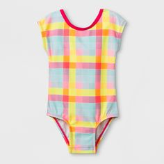 246ff13d63 Toddler Girls  Sleeved One Piece Swimsuit with Bow - Cat  amp  Jack 3T Color