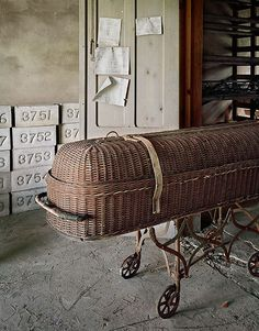 Casket and grave markers, St Lawrence State hospital, NY    Photo by Chris Payne