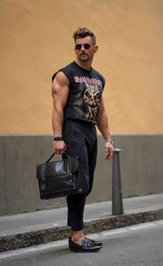 Sleeveless shirt and ankle pants ⚡ men date night looks в 20 Streetwear, 80s Fashion, Fashion Outfits, Street Fashion, Emo Outfits, Lolita Fashion, Fashion Boots, Fashion Ideas, Men Looks