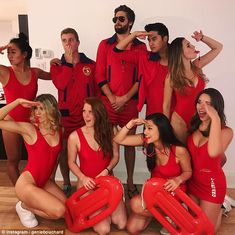 Eugenie Bouchard channels her inner-Baywatch for Halloween | Daily Mail Online Tennis Halloween Costume, Halloween 2020, Halloween Party, Baywatch Costume, I Dream Of Genie, Eugenie Bouchard, Poses For Photos, Swimming Costume, Lifeguard