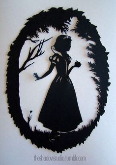 Snow White Silhouette | Snow White papercut silhouette by The Shadow Studio | Silhouettes from ...