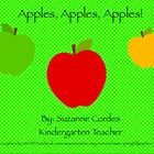 """""""Apples, Apples, Apples Freebie"""" is an interactive SMARTNotebook file for the beginning of the year/autumn. This apple unit has counting songs, a """"Ten Apples Up on Top"""" number activity, letter sorting, size and color sorting, patterning, and even graphing about your favorite apple!"""