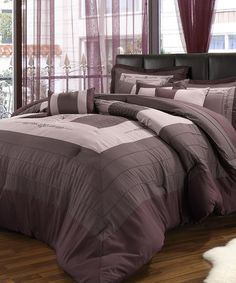 Take a look at this Lavender Field Queen Comforter Set by Chic Home Design on #zulily today!