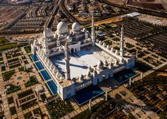 Sheikh Zayed Grand Mosque Aerial View